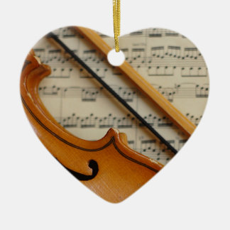 Violin and Sheet Music Christmas Ornament