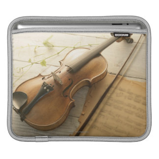 Violin and Sheet Music iPad Sleeves