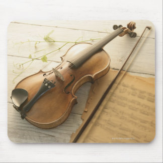 Violin and Sheet Music Mouse Mat