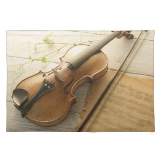 Violin and Sheet Music Placemat