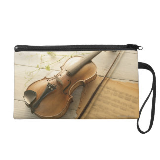 Violin and Sheet Music Wristlet
