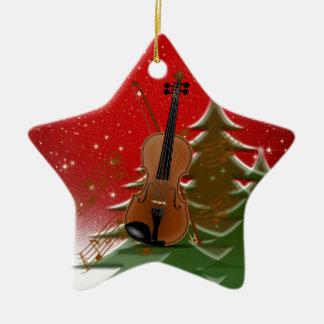 Violin at Christmas Christmas Ornament