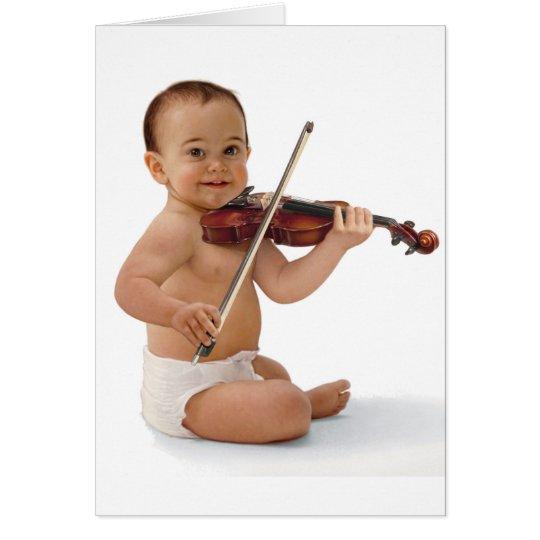 Violin Baby Card