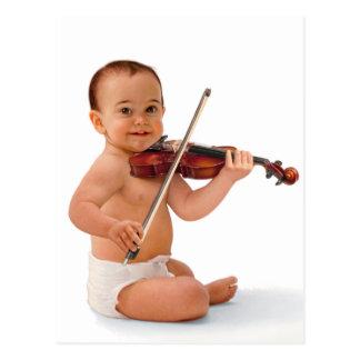 Violin Baby Postcard