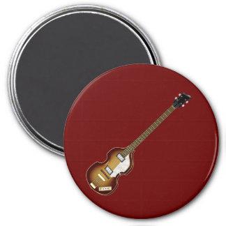 Violin Bass 7.5 Cm Round Magnet