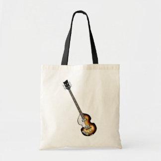 Violin Bass Guitar Tote Bag