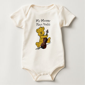 VIOLIN BEAR-T-SHIRT BABY BODYSUIT