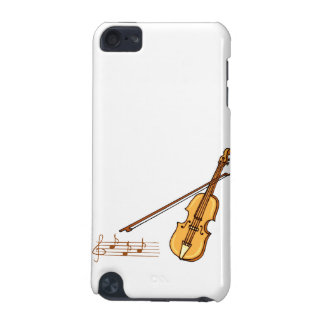 Violin bow and music  staff in brown graphic iPod touch (5th generation) cover