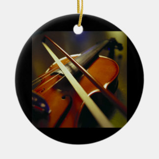 Violin & Bow Close-Up 1 Christmas Ornament