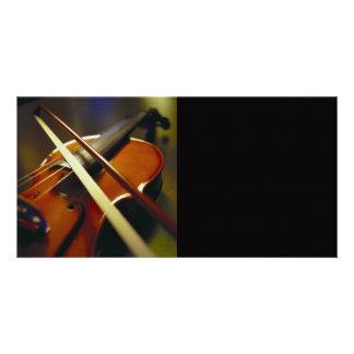 Violin Bow Close-Up 1 Photo Card