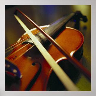 Violin & Bow Close-Up 1 Poster