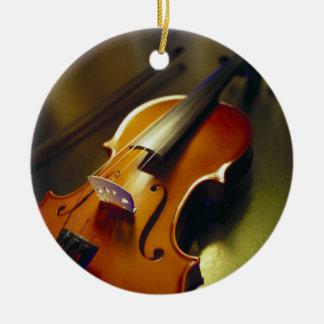Violin & Bow Close-Up 2 Christmas Ornament