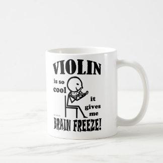 Violin, Brain Freeze Basic White Mug