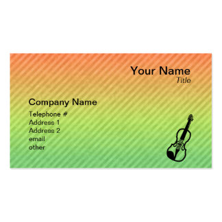 Violin Pack Of Standard Business Cards