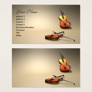 violin business card