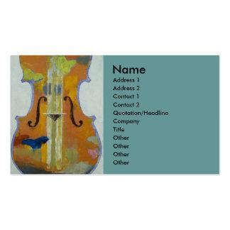 Violin Butterflies Business Card