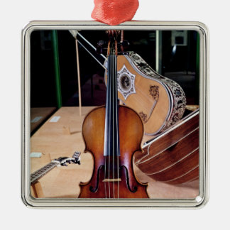 Violin, by Stradivari, Cremona, 1699 (photo; Christmas Ornament