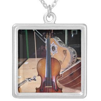 Violin, by Stradivari, Cremona, 1699 (photo; Silver Plated Necklace