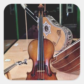 Violin, by Stradivari, Cremona, 1699 (photo; Square Sticker
