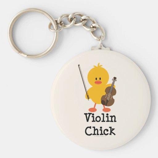 Violin Chick Keychain