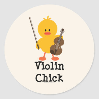 Violin Chick Stickers