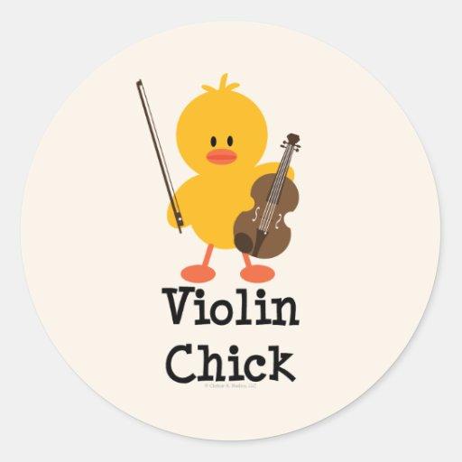 Violin Chick Stickers