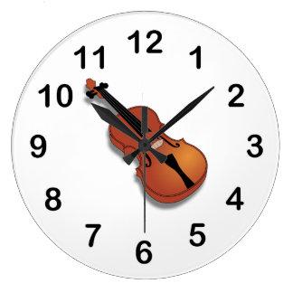 Violin clip art large clock