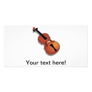 Violin clip art photo card template