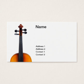 Violin close up business card
