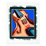 Violin close up graphic blue background abstract custom announcements