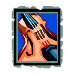 Violin close up graphic blue background abstract photo cut out