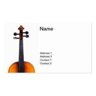 Violin close up pack of standard business cards