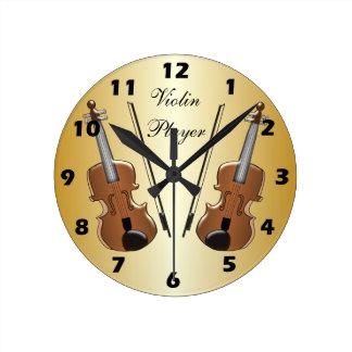 Violin Customized Round Clock