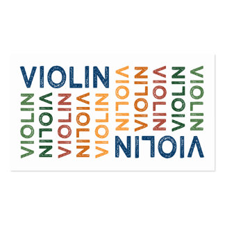 Violin Cute Colorful Business Card