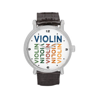 Violin Cute Colorful Watches