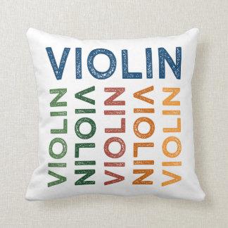 Violin Cute Colorful Throw Cushions