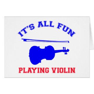 violin Designs Cards