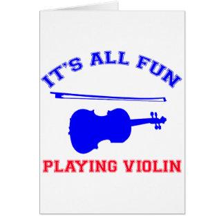violin Designs Greeting Cards