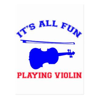 violin Designs Postcard