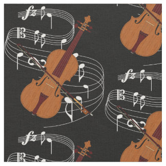 Violin Fabric- Dark Fabric