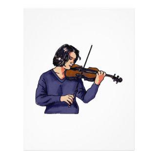 Violin female player blue shirt flyers