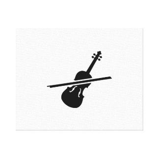Violin Fiddle Gallery Wrap Canvas