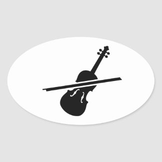 Violin Fiddle Oval Sticker