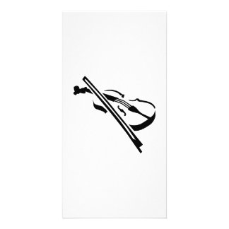 Violin Fiddle Personalized Photo Card