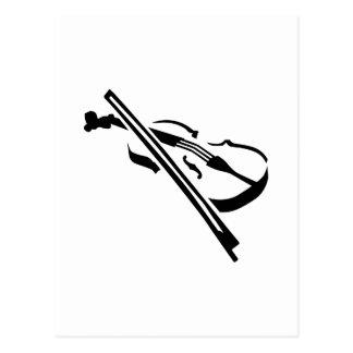 Violin Fiddle Post Card