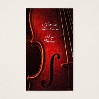 Violin Fine Instrument Maker Luthier Business Card