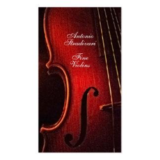 Violin Fine Instrument Maker Luthier Pack Of Standard Business Cards