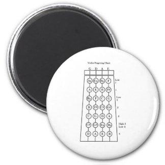 Violin Fingering Chart 6 Cm Round Magnet
