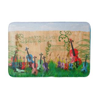 Violin Garden Bath Mat