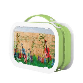 Violin Garden Lunch Box